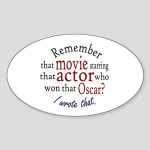 I wrote that. Oval Sticker (10 pk)