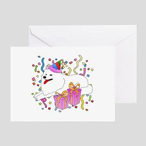 Samoyed Party Greeting Card