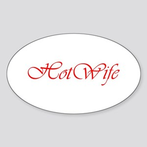 Hotwife Oval Sticker