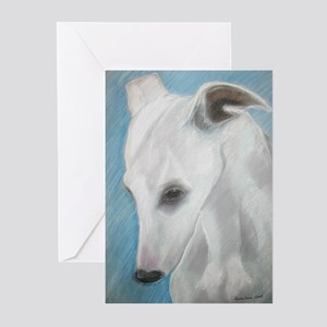 """""""Blues"""" a Whippet Greeting Cards (Pk of 10)"""