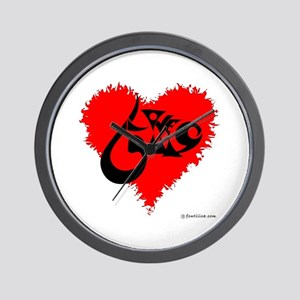 Eshgh and Love in a heart Wall Clock