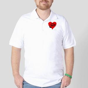 Eshgh and Love in a heart Golf Shirt