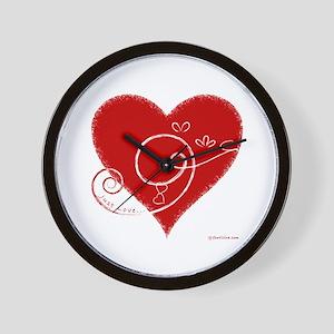 Eshgh (Love in Persian) Wall Clock