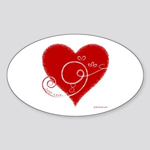 Eshgh (Love in Persian) Oval Sticker