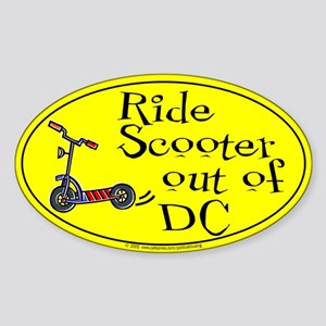 Ride Scooter out of DC Oval Sticker