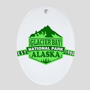Glacier Bay - Alaska Oval Ornament