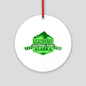 Glacier Bay - Alaska Round Ornament