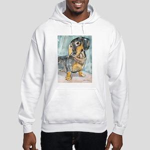 """Total Tude"" a Dachshund Hooded Sweatshirt"