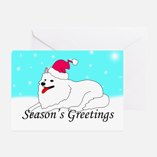 Samoyed Santa Greeting Cards (Pk of 10)