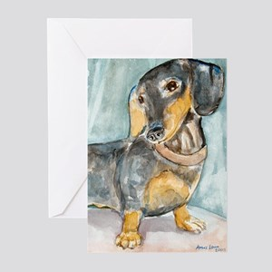 """""""Total Tude"""" a Dachshund Greeting Cards (Package o"""
