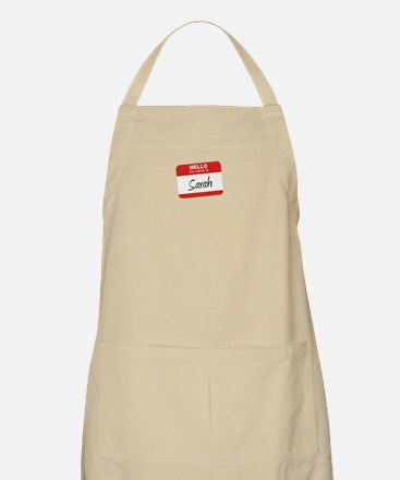 """Hello, my name is Sarah""<br> BBQ Apron"
