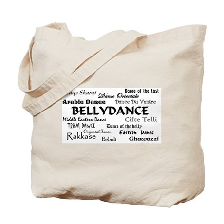 Names of Bellydance box Tote Bag