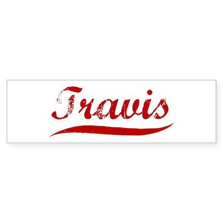 Travis (red vintage) Bumper Sticker