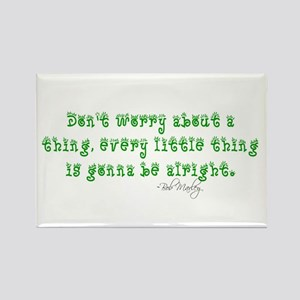 Marley Quote Rectangle Magnet