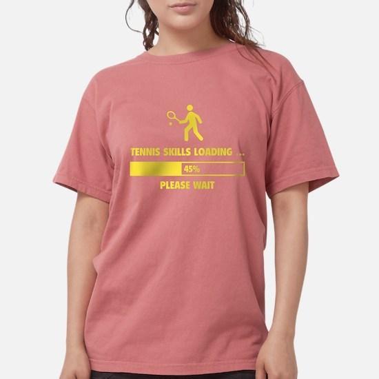 Tennis Skills Loading Women's Dark T-Shirt