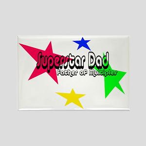 Superstar Dad Rectangle Magnet