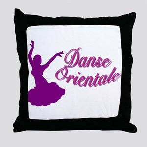 Purple Danse Orientale Throw Pillow