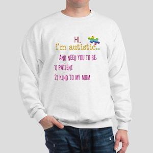 Hi,autism awareness tee Sweatshirt