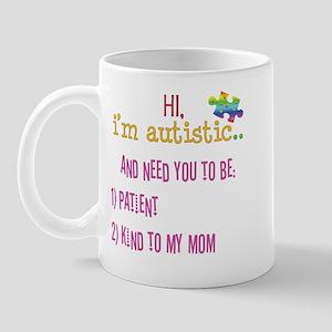 Hi,autism awareness tee Mug