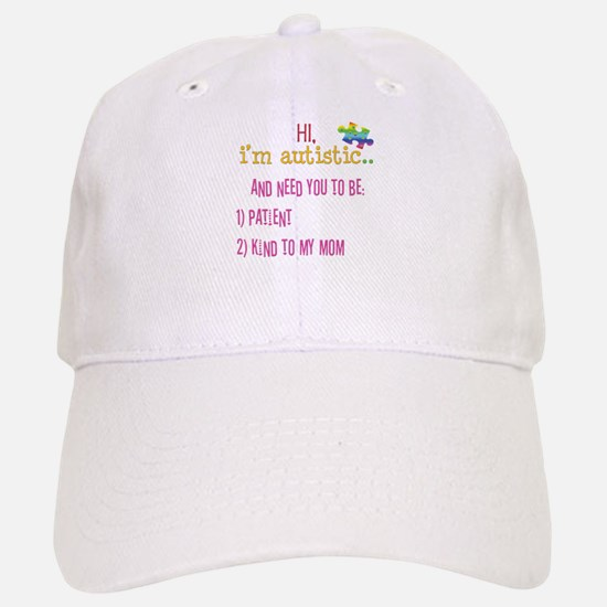 Hi,autism awareness tee Baseball Baseball Cap