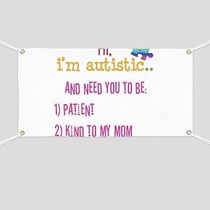 Hi,autism awareness tee Banner