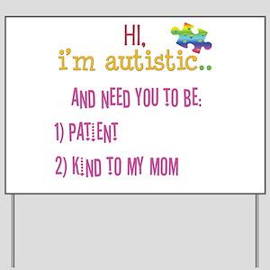Hi,autism awareness tee Yard Sign
