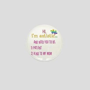 Hi,autism awareness tee Mini Button
