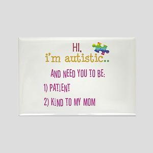 Hi,autism awareness tee Rectangle Magnet