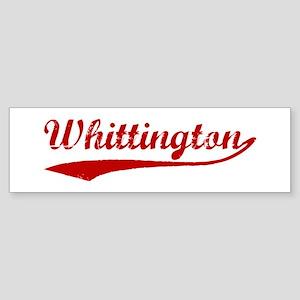 Whittington (red vintage) Bumper Sticker