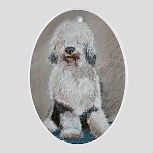 Old English Sheepdog Keepsake (Oval)