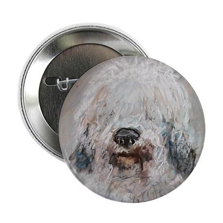 Old English Sheepdog Button