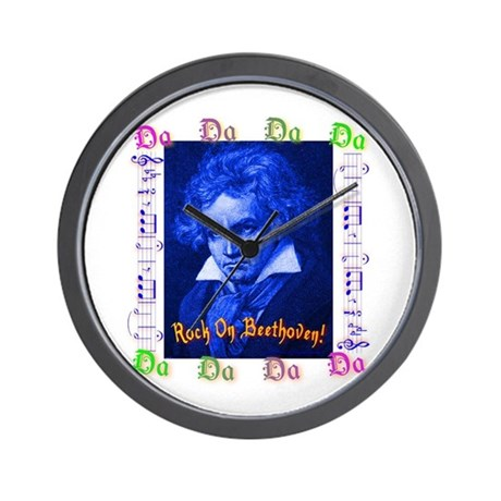 Beethoven Rocks! Wall Clock
