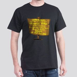 Warning Redneck Zone Dark T-Shirt