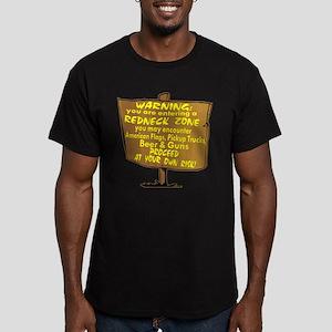 Warning Redneck Zone Men's Fitted T-Shirt (dark)