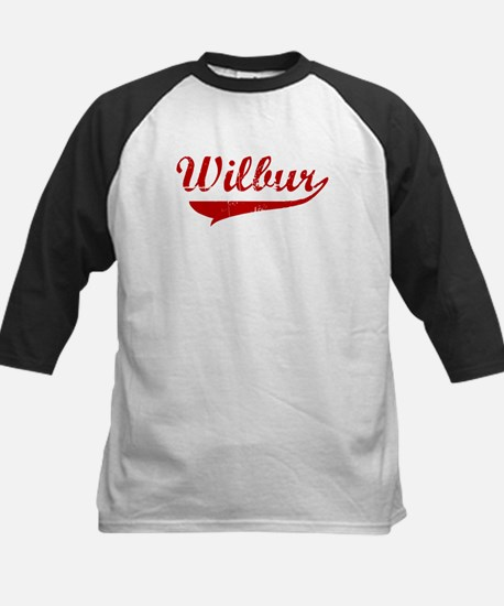 Wilbur (red vintage) Kids Baseball Jersey