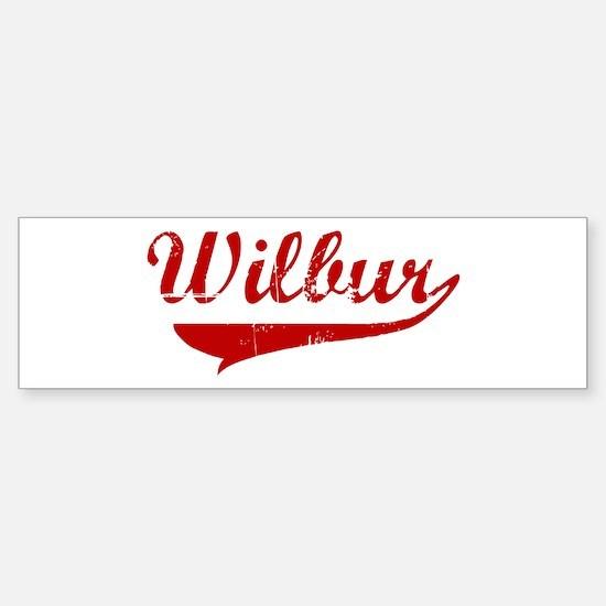 Wilbur (red vintage) Bumper Bumper Bumper Sticker