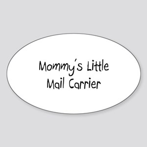 Mommy's Little Mail Carrier Oval Sticker