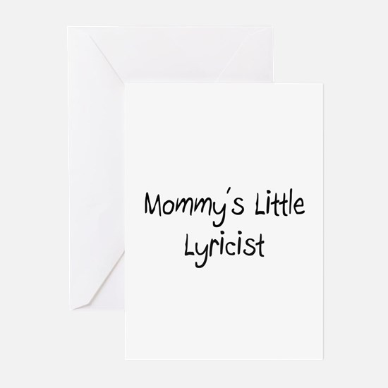Mommy's Little Lyricist Greeting Cards (Pk of 10)