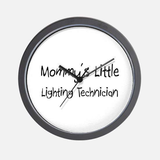 Mommy's Little Lighting Technician Wall Clock