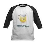 Massachusetts Drinking Team Kids Baseball Jersey
