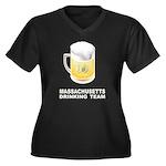 Massachusetts Drinking Team Women's Plus Size V-Ne