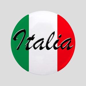 "Italian Flag - High Quality Image 3.5"" Button"