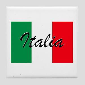 Italian Flag - High Quality Image Tile Coaster