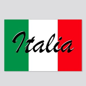 Italian Flag - High Quali Postcards (Package of 8)