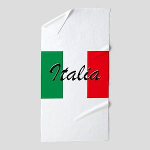 Italian Flag - High Quality Image Beach Towel