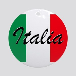 Italian Flag - High Quality Image Round Ornament