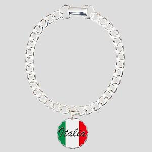 Italian Flag - High Qual Charm Bracelet, One Charm