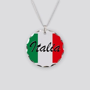Italian Flag - High Quality Necklace Circle Charm