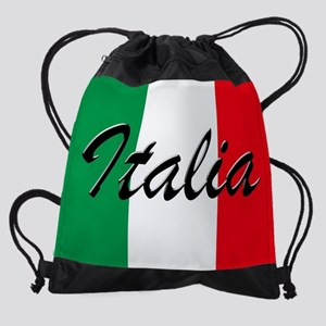 Italian Flag - High Quality Image Drawstring Bag