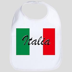 Italian Flag - High Quality Image Baby Bib
